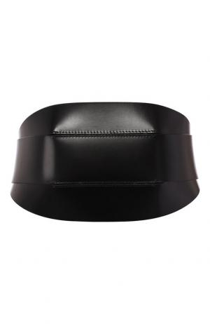 Кожаный ремень Ann Demeulemeester. Цвет: черный