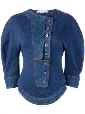Рубашка в стиле корсета Stella McCartney. Цвет: синий