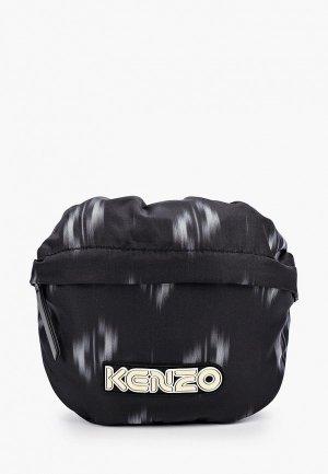 Сумка поясная Kenzo. Цвет: черный