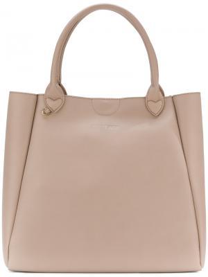 Большая сумка-шоппер Twin-Set. Цвет: телесный