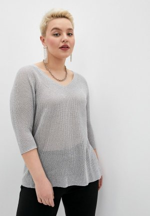 Пуловер Persona by Marina Rinaldi. Цвет: серый