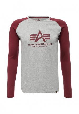 Лонгслив Alpha Industries. Цвет: серый