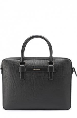 Кожаная сумка для ноутбука Mediterraneo Dolce & Gabbana. Цвет: черный
