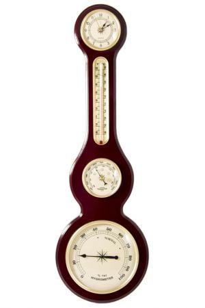 Часы-метеостанция Русские подарки. Цвет: коричневый