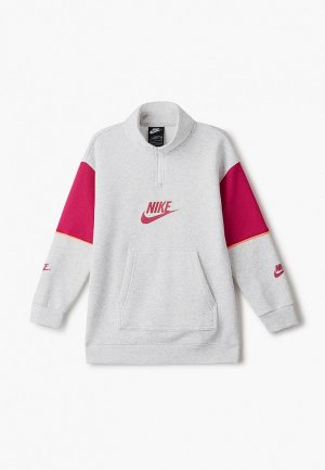Платье Nike. Цвет: серый