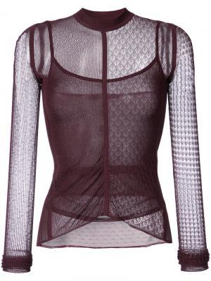 Lace and net detailed top Jason Wu. Цвет: красный