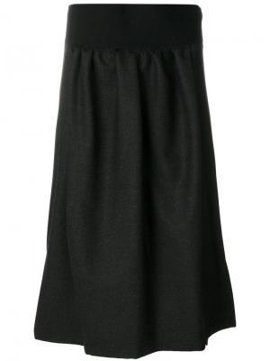 Юбка с поясом Jil Sander. Цвет: чёрный