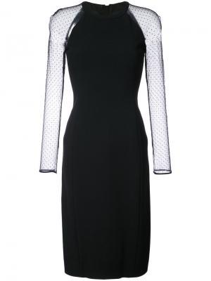 Tulle sleeve dress Jason Wu. Цвет: чёрный