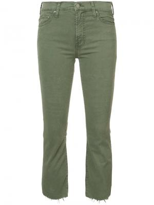 Укороченные джинсы Insider Mother. Цвет: зелёный