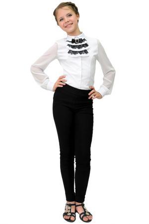 Комплект: блузка, манишка LADETTO. Цвет: белый