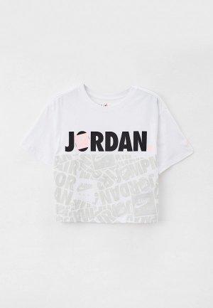 Футболка Jordan. Цвет: белый