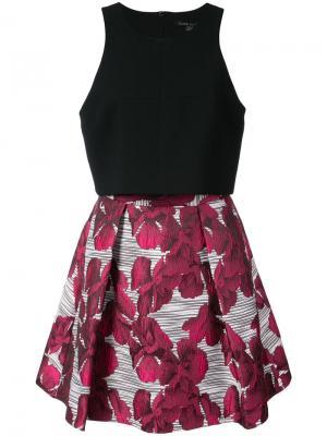 Платье с цветочным рисунком на юбке Black Halo. Цвет: чёрный