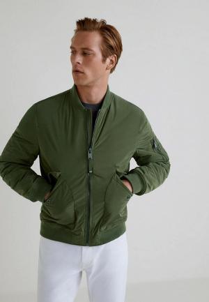 Куртка утепленная Mango Man. Цвет: хаки