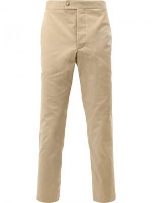 Классические брюки-чинос Moncler Gamme Bleu. Цвет: телесный