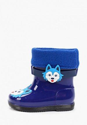 Резиновые сапоги Kenkä. Цвет: синий