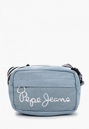 Сумка Pepe Jeans. Цвет: голубой