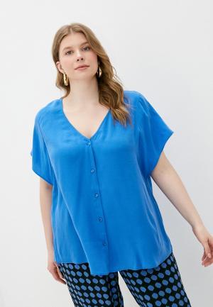 Блуза Persona by Marina Rinaldi. Цвет: синий