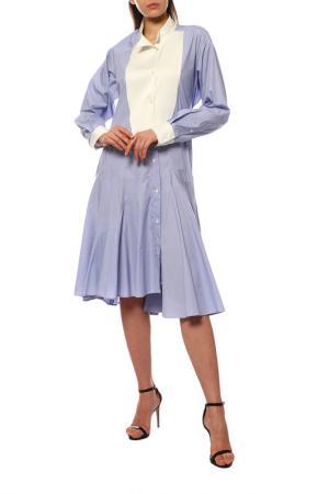 Платье LOEWE. Цвет: white