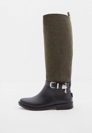 Резиновые сапоги Trussardi Jeans. Цвет: зеленый