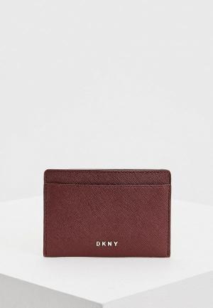 Визитница DKNY. Цвет: бордовый