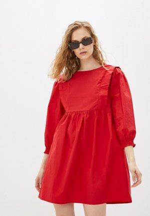 Платье Compania Fantastica. Цвет: красный