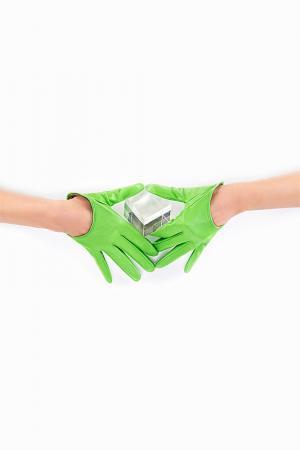 Перчатки Michel Katana. Цвет: светло-зеленый