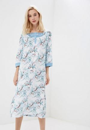 Сорочка ночная Relax Mode. Цвет: голубой