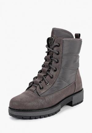 Ботинки King Boots. Цвет: серый