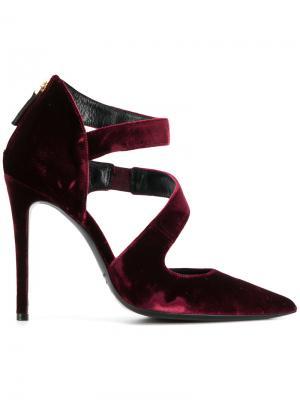 Туфли-лодочки с ремешками Deimille. Цвет: розовый и фиолетовый
