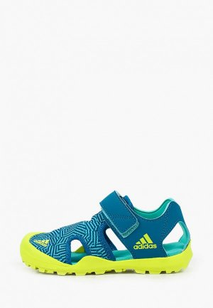 Сандалии adidas. Цвет: бирюзовый