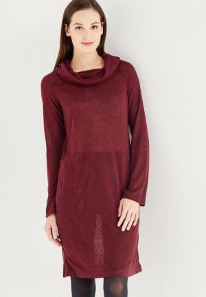 Платье Luhta. Цвет: бордовый