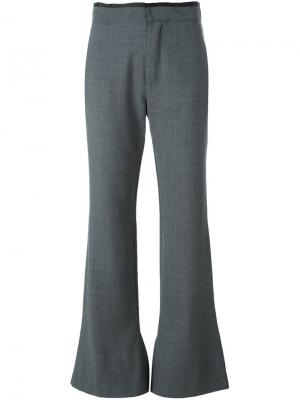 Расклешенные брюки Olive Erika Cavallini. Цвет: серый