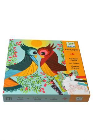 Набор Бумажный декор Птички Djeco. Цвет: оранжевый