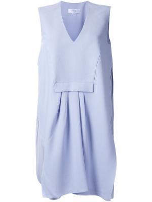 Платье шифт со складками Carven. Цвет: розовый и фиолетовый