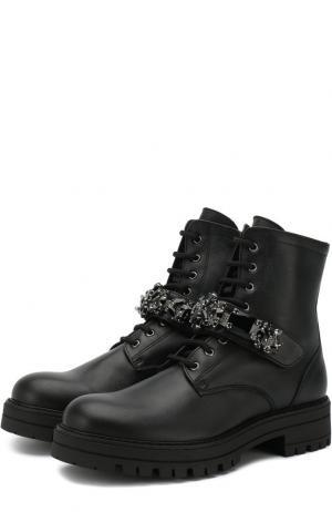 Кожаные ботинки на шнуровке с внутренней меховой отделкой Missouri. Цвет: черный