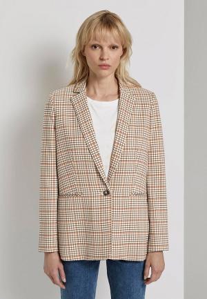 Пиджак Tom Tailor. Цвет: бежевый