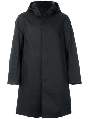 Пальто с капюшоном Mackintosh. Цвет: синий