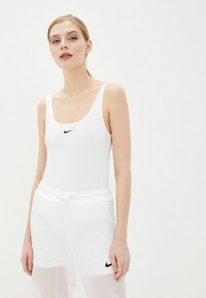 Боди Nike. Цвет: белый