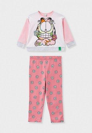 Пижама United Colors of Benetton. Цвет: разноцветный