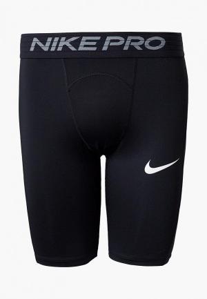 Шорты компрессионные Nike. Цвет: черный