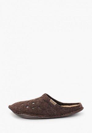 Тапочки Crocs. Цвет: коричневый