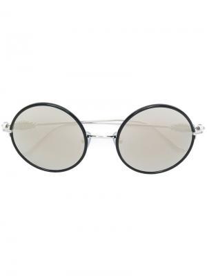 Круглые солнцезащитные очки Chrome Hearts. Цвет: серый