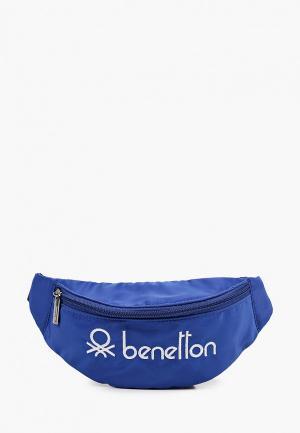 Сумка поясная United Colors of Benetton. Цвет: синий