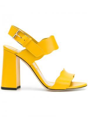 Босоножки с открытым носком Marskinryyppy. Цвет: жёлтый и оранжевый