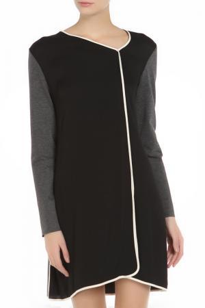 Платье Liviana Conti. Цвет: черно-серый