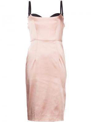 Платье-бюстье Milly. Цвет: розовый и фиолетовый