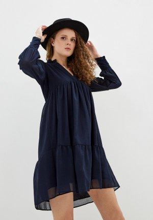 Платье Naf. Цвет: синий