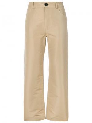 Укороченные брюки чинос Marni. Цвет: телесный