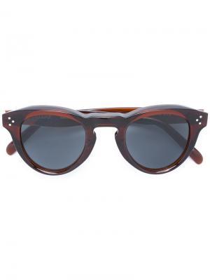 Солнцезащитные очки с круглой оправой Céline Eyewear. Цвет: коричневый
