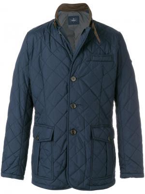 Легкая стеганая куртка Hackett. Цвет: синий